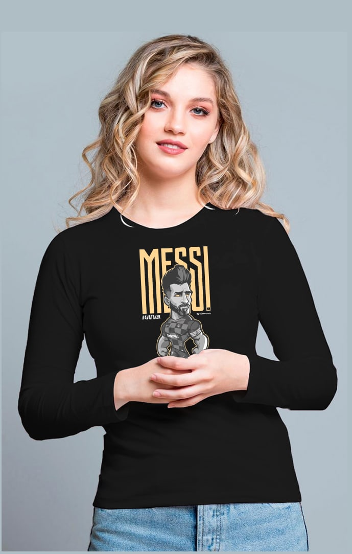 Messi Women Long sleeves black