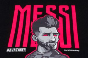 Messi Pink Neon Letters