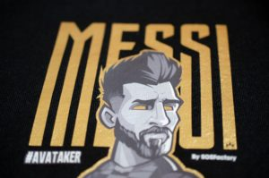 Messi Gold Letters