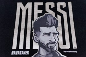 Messi Silver Letters